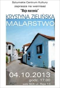 Krystyna Zielinska wystawa plakat