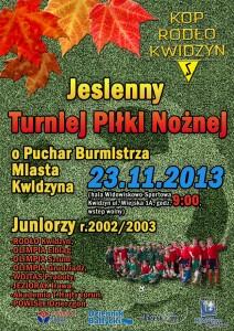 jesienny turniej pilki noznej plakat