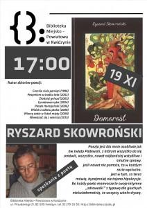 spotkanie z poeta Ryszard Skowronski plakat