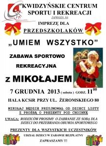 IMPREZA Z MIKOŁAJEM - PRZEDSZKOLAKI 2013.odt