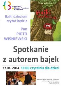 spotkanie z autorem bajek w bibliotece styczen 2014 plakat