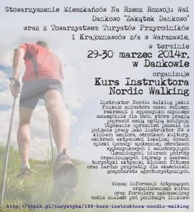 kurs instruktora nordic walking marzec 2013 plakat