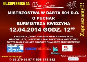 turniej darta kwiecien 2014 plakat