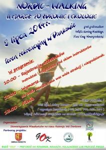 II marsz nordic walking 2014 plakat