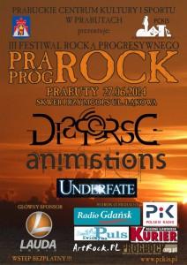 Pra-Prog-Rock Festival w Prabutach plakat