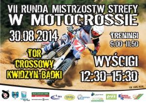 VII runda Mistrzostw Strefy Północnej w Motocrossie Kwidzyn plakat