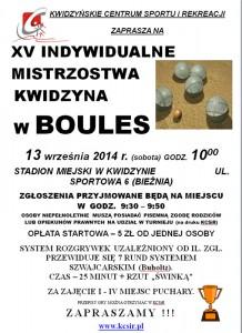 boules XV turniej plakat
